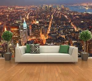 Wall Art Murals Wallpaper Cityscape New York From Empire State Building Manhattan