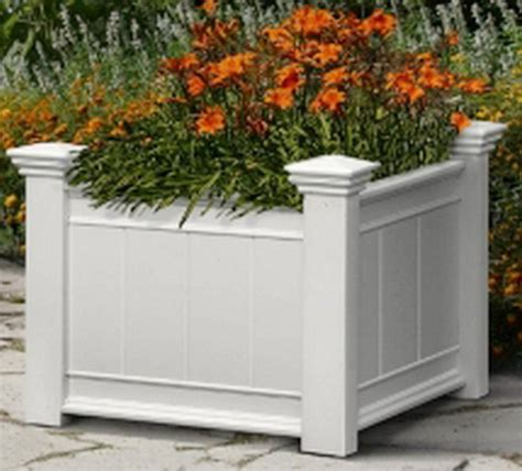 White Planter Box by New Big Large White Planter Box Weather Resistant Vinyl