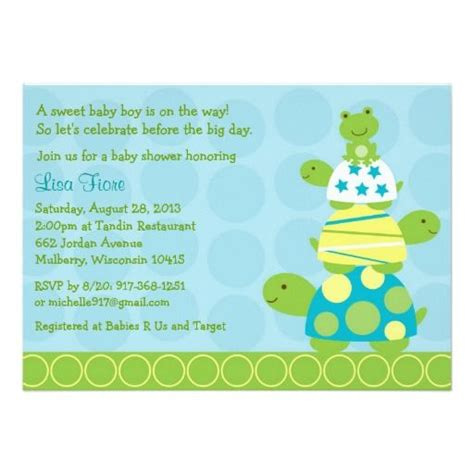 Turtle Baby Shower Invitations by 427 Best Turtle Baby Shower Invitations Images On