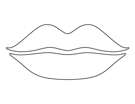 printable lips template