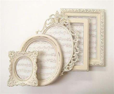 shabby chic frame set shabby chic frames picture frame set ornate frames ivory vintage wedding decor home decor