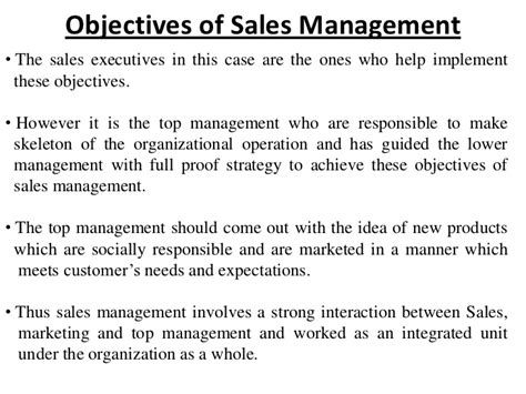 Introduction To Sales Management Sales Goals And Objectives Template