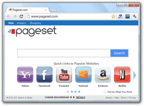House Search Engines by How To Remove The Pageset Redirection Virus Pageset Home