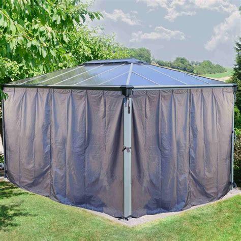 gazebo privacy curtains houseofaura curtain gazebo gazebo privacy curtains