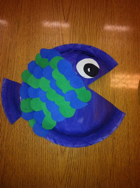 How To Make Fish Out Of Paper Plates - paper plate fish pet projects
