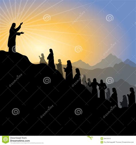 preaching that how to get the mountain of your messages with maximum impact books jesus giving sermon stock vector image of biblical