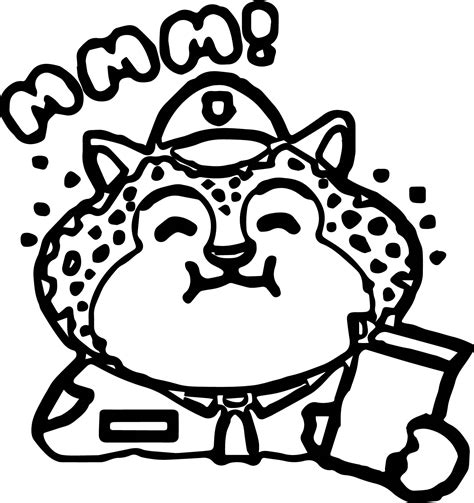 basic coloring pages clawhauser zootopia basic coloring page wecoloringpage