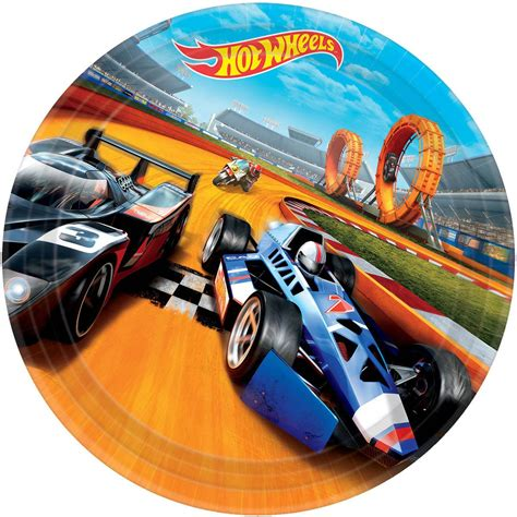 hot car themes hot wheels wild racer 9 quot luncheon plate 8 count low