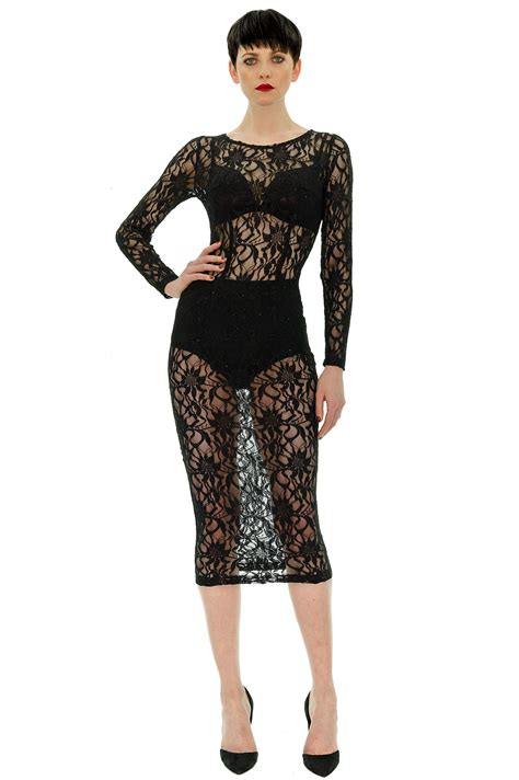 longue robe en dentelle stefanie renoma