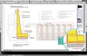 wall l design tapered wall thickness retaining wall design