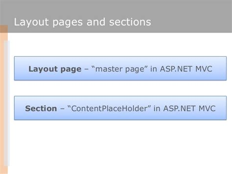 asp net mvc section asp net mvc as the next step in web development