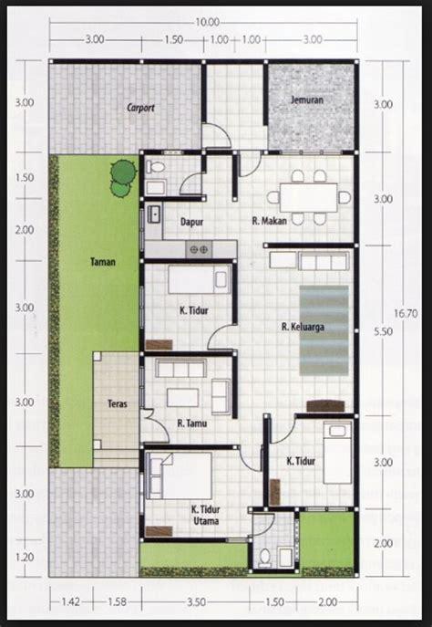 denah rumah 3 kamar ukuran 6x12 terbaik dan terbaru