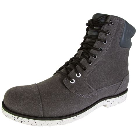 canvas mens boots teva mens durban waxed canvas boot shoes ebay