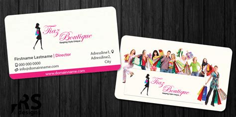fashion design home business business card design for tiaz boutique by rs designs