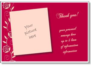 free thank you card template insert photo personalized thank you card print a thank you greeting