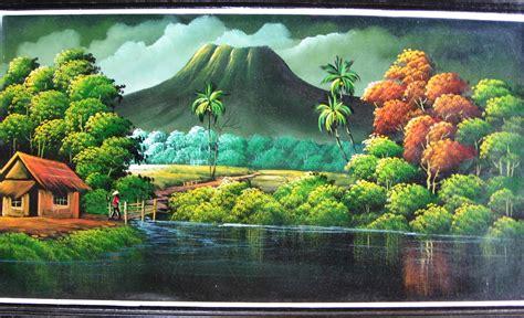 wallpaper tema alam artblog kumpulan wallpaper lukisan pemandangan alam