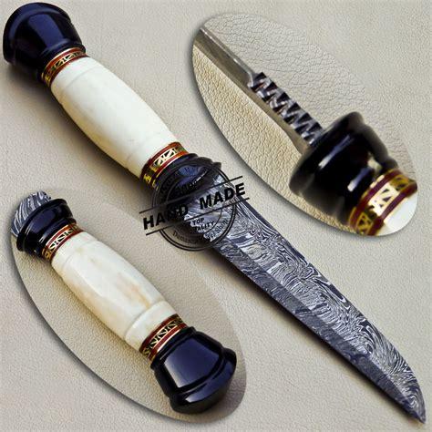 Handmade Custom - damascus skinner knife custom handmade damascus steel skinner