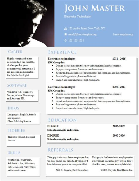 creative design resume templates 813 819 free cv
