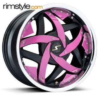 Pink Wheel by Pink And Black Rims Alloy Wheels Pink