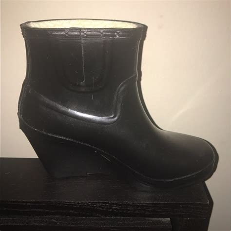 Wedges Boots Glossy 60 shoes glossy wedge ankle black