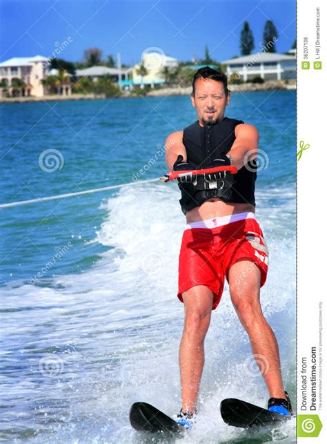 Vacation Home Plans Waterfront by Male Water Skier Stock Photo Image Of Lake House