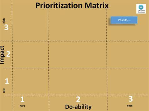 priority matrix template free prioritization matrix a3 templates at