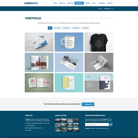 themeforest free html templates corpboot corporate website template by rafamem themeforest