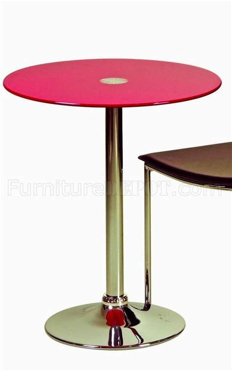 glass top bar tables red glass top modern bar table w metal base