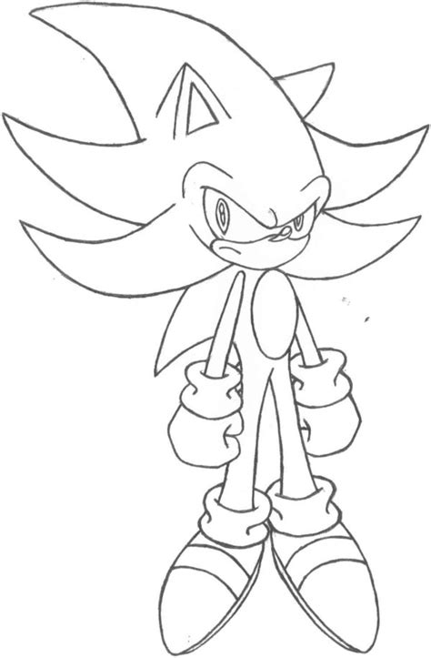 supersonic coloring pages super sonic the hedgehog