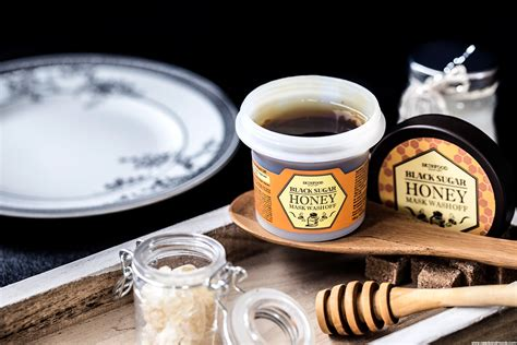 Skinfood Blacksugar Honey Mask skinfood black sugar honey mask wash mon test et avis