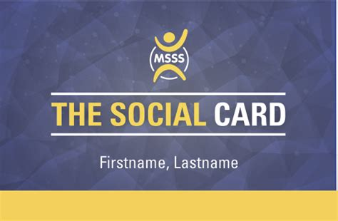 The Card Society by New Msss Service The Social Card The Mcmaster Social