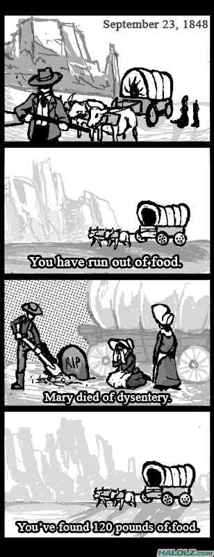 Oregon Trail Meme - image 40410 you have died of dysentery know your meme