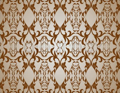 Leaf Upholstery Fabric Old Lux Art Silk Leaf Brown Curve Tiled Retro