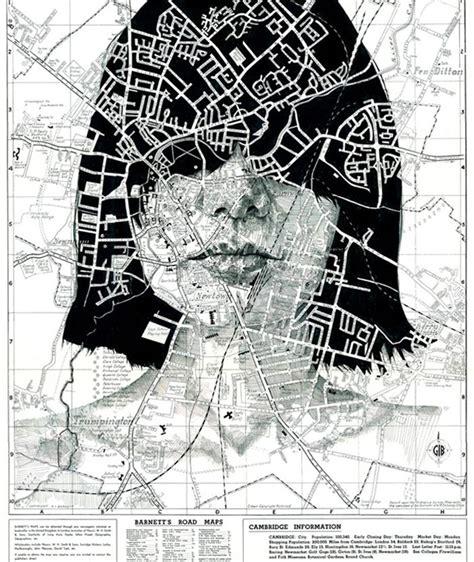portraits drawn  maps  ed fairburn colossal