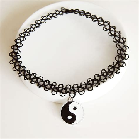 tattoo choker necklace 90s tattoo choker stretch necklace retro henna elastic