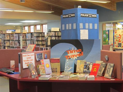 picture book display my awesome co worker s time travel library display yepp