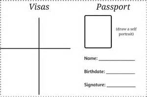 passport template for printable visit a country without leaving your house