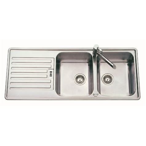 double bowl kitchen sinks rieber marilyn 200 double bowl and drainer 1200mm x 500mm