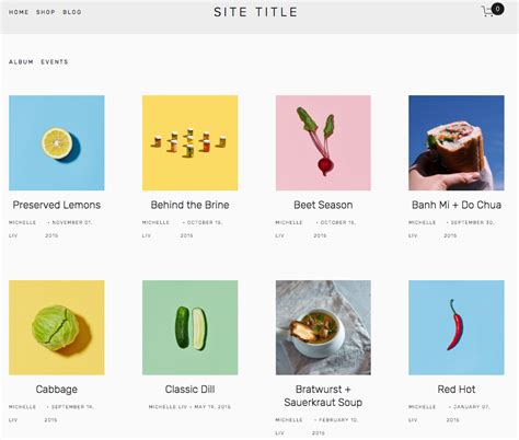 squarespace templates for bloggers using the brine template squarespace help