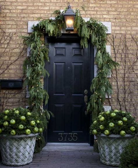 How To Decorate Your Front Door For The Holidays The Garland Around Front Door