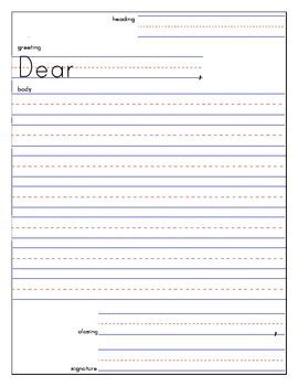 friendly letter template tpt