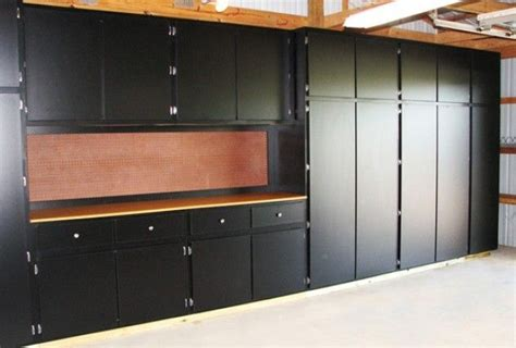 image detail for black melamine garage storage cabinets with work bench ours won t be melamine