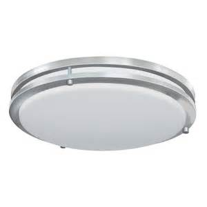 Lowes Led Ceiling Lights Shop Earth Lighting 17 In W Satin Nickel Integrated Flush Mount Light At Lowes