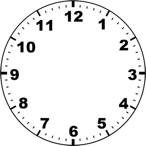 printable clock template with hands clock face by missminded deviantart com on deviantart