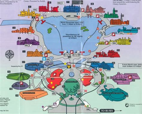 map of epcot theme park brochures walt disney world epcot theme park brochures
