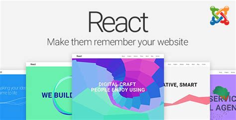 react material design joomla template by perfectusinc