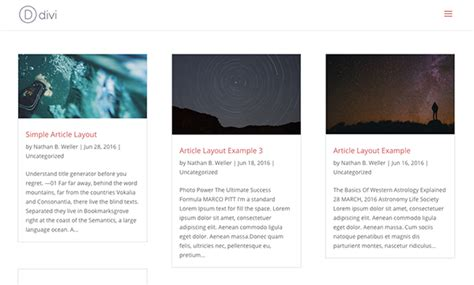 blog archive layout how to give your divi archive pages a masonry layout