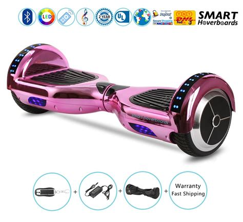 bluetooth hoverboard with lights 6 5 quot hoverboard with bluetooth speakers bluetooth and led