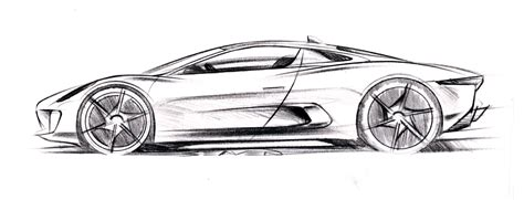jaguar c x75 concept 2010 sketsa mobil