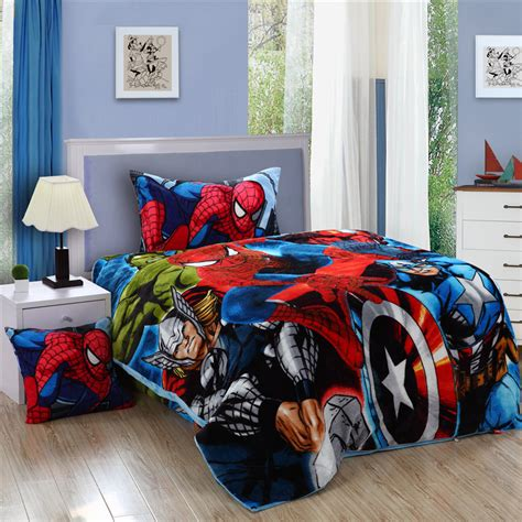 spiderman twin comforter spiderman bedding set spider man kids twin size flannel